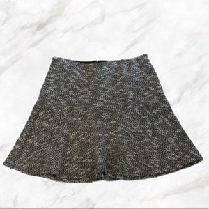 LOFT by Ann Taylor | Gray Tweed Skirt